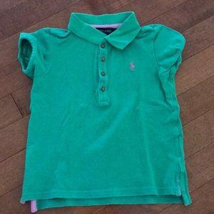 Ralph Lauren light green polo shirt. Kid size 4